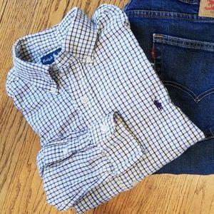 Ralph Lauren Classic Fit Blue Checkered Shirt